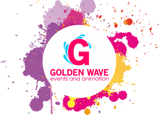 golden wave events and animation logo new